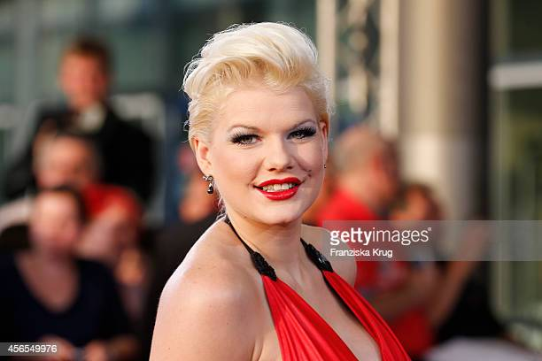 Melanie Mueller attends the red carpet of the Deutscher Fernsehpreis 2014 on October 02 2014 in Cologne Germany
