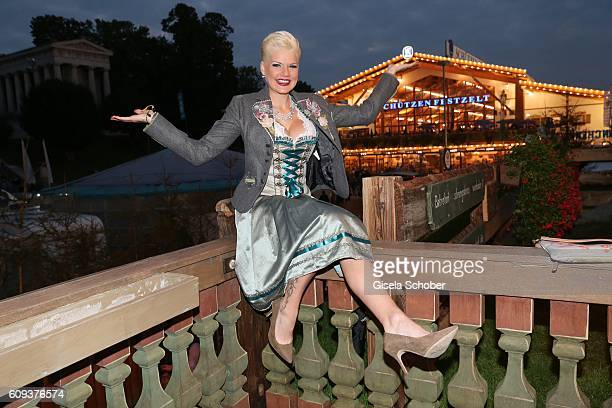 Melanie Mueller during the Oktoberfest at Kaeferschaenke at Theresienwiese on September 20 2016 in Munich Germany