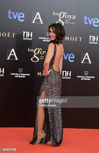 Melanie Olivares attends Goya Cinema Awards 2013 at Centro de Congresos Principe Felipe on February 17 2013 in Madrid Spain