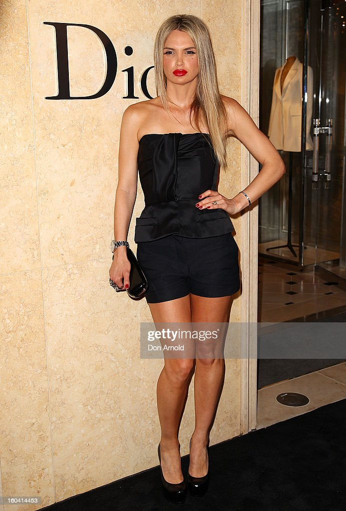 Melanie Parsa poses at the opening of the Christan Dior Sydney store on January 31, 2013 in Sydney, Australia.