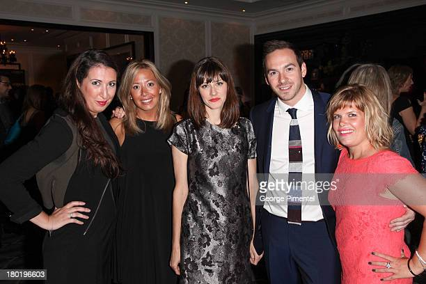 Melanie Pelican Claud Lauzon Patricia Lachance Hugo Thibault and Marika Lapoint Attend the L'Oreal Paris cocktail reception and product Launch at the...