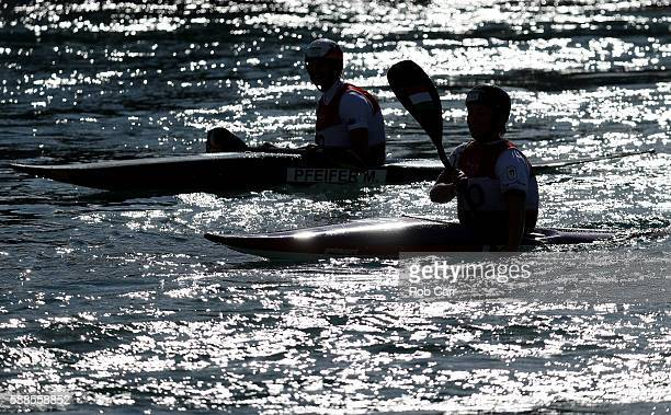 Melanie Pfeifer of Germany looks on during the Women's Kayak Final on Day 6 of the Rio 2016 Olympics at Whitewater Stadium on August 11 2016 in Rio...