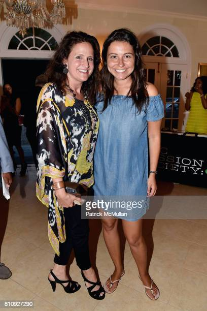 Melanie Roy and Lauren Richmond attend Katrina and Don Peebles Host NY Mission Society Summer Cocktails at Private Residence on July 7 2017 in...