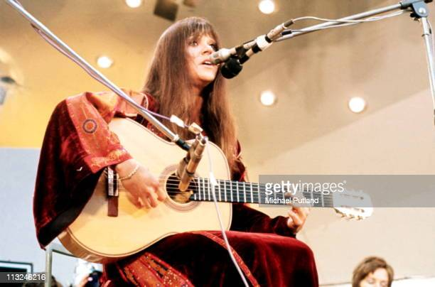Melanie Safka performs on stage at Crystal Palace London 3rd June 1972