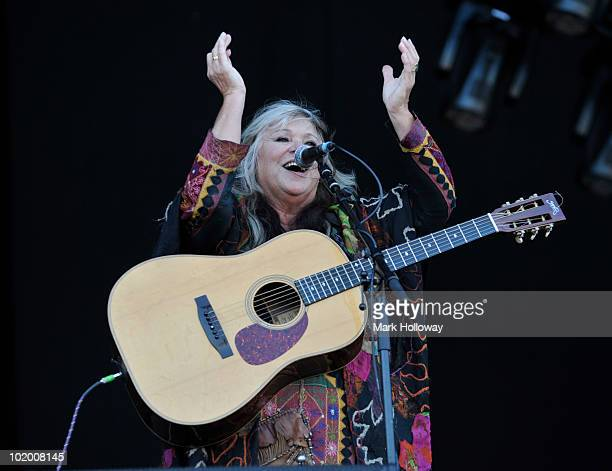 Melanie Safka performs on stage on the second day of Isle of Wight Festival at Seaclose Park on June 12 2010 in Newport Isle of Wight