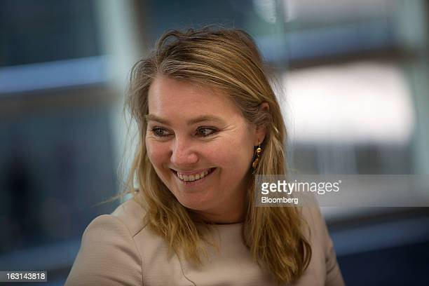 Melanie Schultz minister of infrastructure and environment for the Netherlands smiles during an interview in New York US on Tuesday March 5 2013...