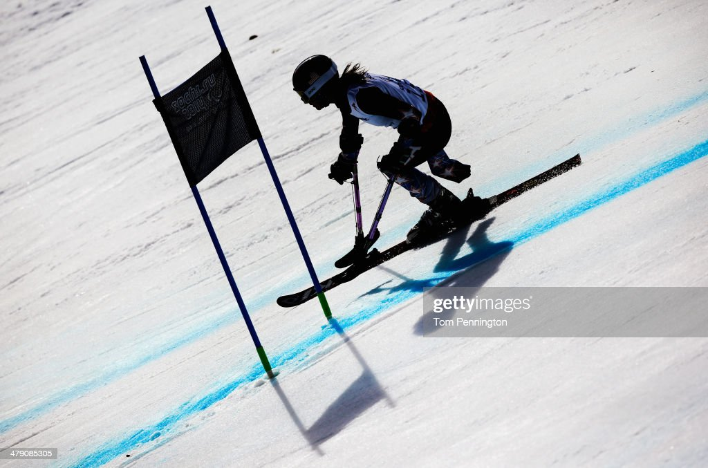 Melanie Schwartz of the United States competes in the Women's Giant Slalom Standing during day nine of the Sochi 2014 Paralympic Winter Games at Rosa Khutor Alpine Center on March 16, 2014 in Sochi, Russia.