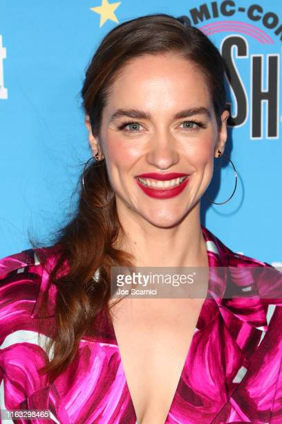 Melanie Scrofano arrives at the Entertainment Weekly ComicCon Celebration at Float at Hard Rock Hotel San Diego on July 20 2019 in San Diego...