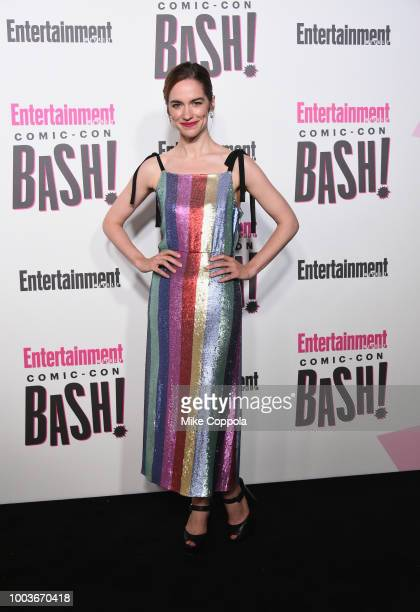 Melanie Scrofano attends Entertainment Weekly's ComicCon Bash held at FLOAT Hard Rock Hotel San Diego on July 21 2018 in San Diego California...