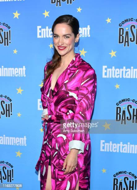 Melanie Scrofano attends Entertainment Weekly's ComicCon Bash held at FLOAT Hard Rock Hotel San Diego on July 20 2019 in San Diego California...