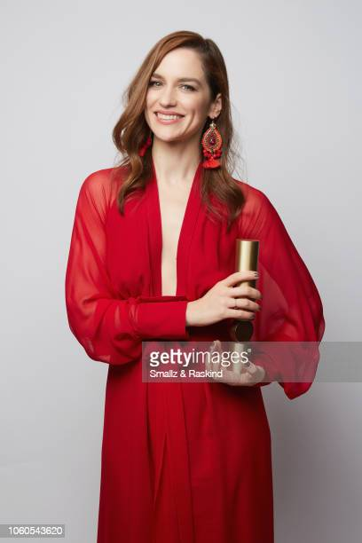 Melanie Scrofano poses for a portrait during the 2018 People's Choice Awards at The Barker Hanger on November 11 2018 in Santa Monica California