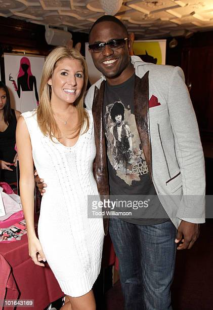 Melanie Segal and Actor Wayne Brady attend the Melanie Segal's Celebrity SOS Lounge at House of Blues Sunset Strip on June 4 2010 in West Hollywood...