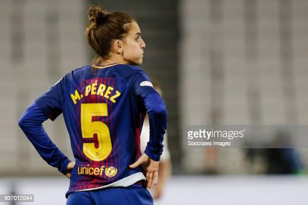 Melanie Serrano Perez of FC Barcelona Women during the match between Olympique Lyon Women v FC Barcelona Women at the Parc Olympique Lyonnais on...
