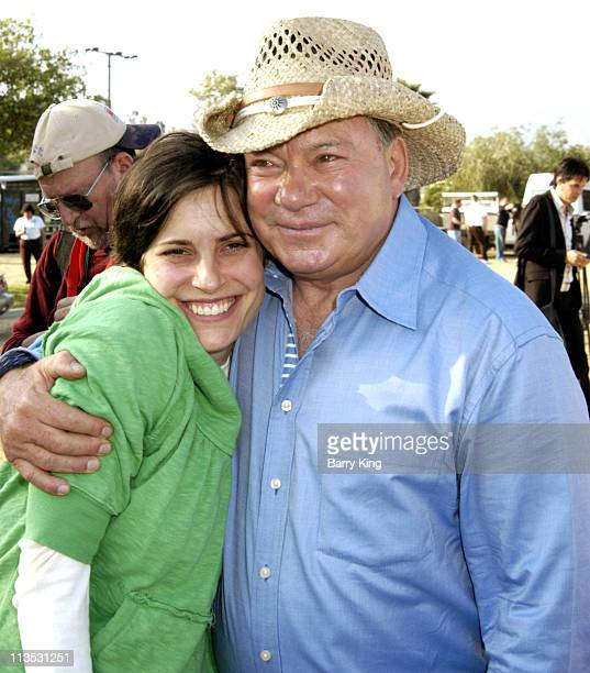 Melanie Shatner and father William Shatner during William Shatner Wells Fargo Hollywood Charity Horse Show April 29 2006 at Los Angeles Equestrian...