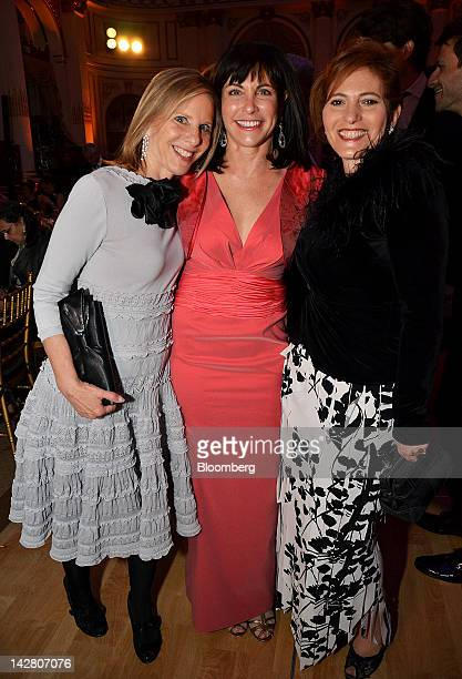 Melanie Shorin principal at the Narrative Trust from left Judy Dimon honorary chair and Jennifer Raab president of Hunter College stand for a...