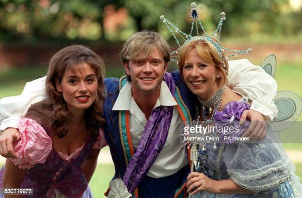 Melanie Stace Darren Day and Marti Webb in Richmond London where they will be appearing in pantomime at the Richmond Theatre for Christmas 1999