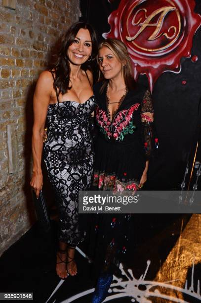 Melanie Sykes and Azzi Glasser attend The Perfumer's Story evening of Scentsory delights hosted by Aures London Azzi Glasser at Sensorium on March 21...