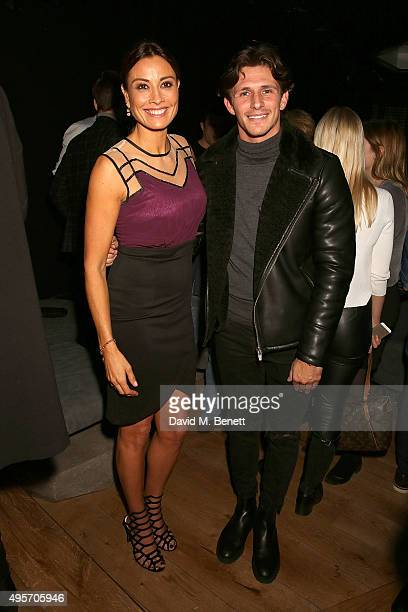 Melanie Sykes and Jake Hall attend the launch of Zebrano Restaurant on November 4 2015 in London England