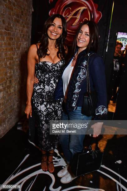 Melanie Sykes and Lisa Snowdon attend The Perfumer's Story evening of Scentsory delights hosted by Aures London Azzi Glasser at Sensorium on March 21...