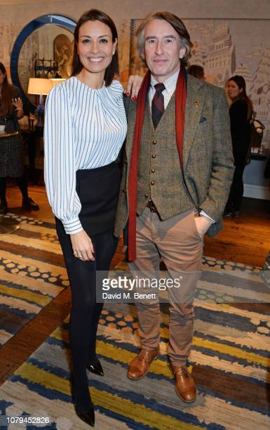 Melanie Sykes and Steve Coogan attend a special screening of Stan Ollie at The Soho Hotel on January 8 2019 in London England