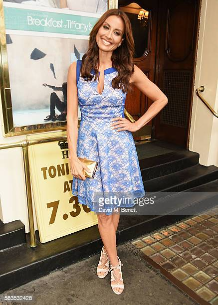 Melanie Sykes arrives at the press night performance of 'Breakfast at Tiffany's' at the Theatre Royal Haymarket on July 26 2016 in London England