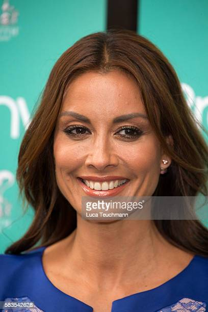 Melanie Sykes arrives for the opening night of Breakfast at Tiffany at Theatre Royal on July 26 2016 in London England