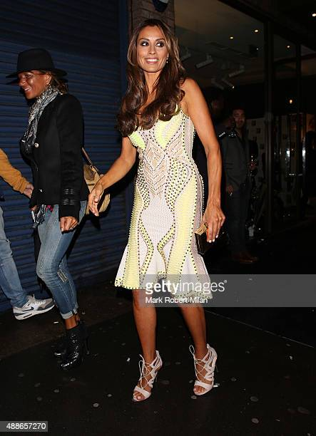 Melanie Sykes attending the Simply Glamorous book launch party on September 16 2015 in London England