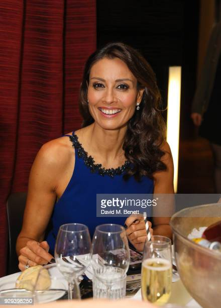 Melanie Sykes attends The BARDOU Foundation's International Women's Day IWD private dinner at The Hospital Club on March 8 2018 in London England