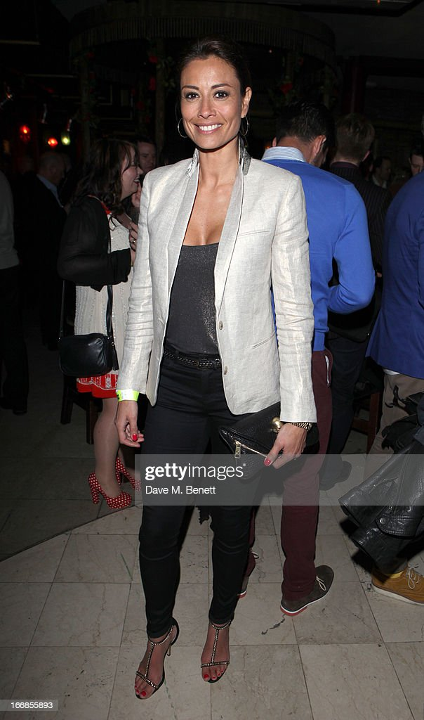 Melanie Sykes attends the 'Beautiful Thing' press night after party at Salvador and Amanda on April 17, 2013 in London, England.