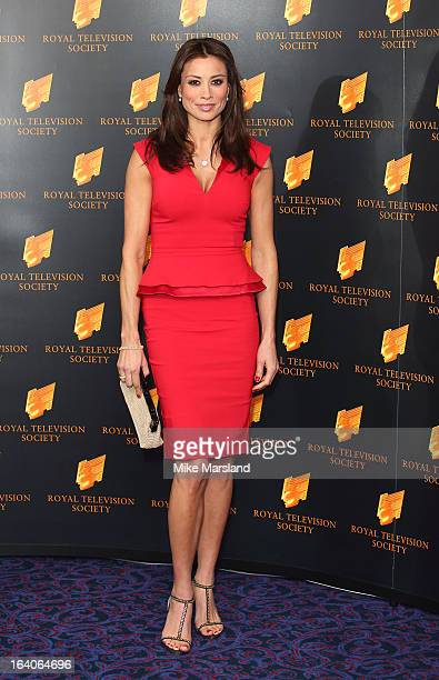 Melanie Sykes attends the RTS Programme Awards at Grosvenor House on March 19 2013 in London England