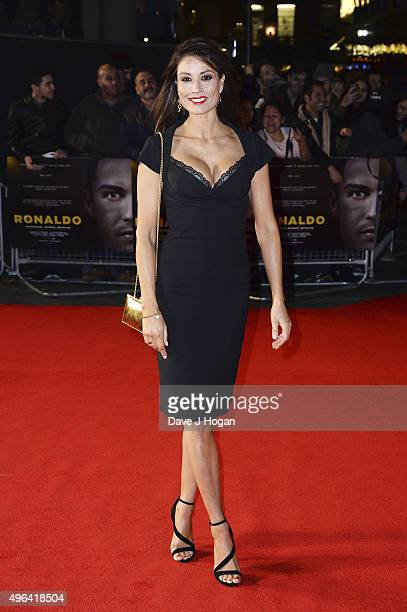 Melanie Sykes attends the World Premiere of 'Ronaldo' at Vue West End on November 9 2015 in London England