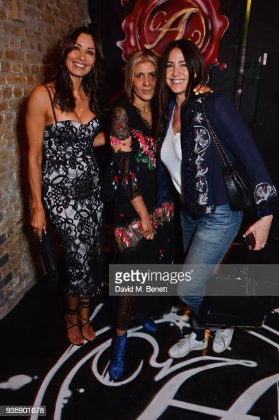 Melanie Sykes Azzi Glasser and Lisa Snowdon attend The Perfumer's Story evening of Scentsory delights hosted by Aures London Azzi Glasser at...