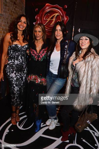 Melanie Sykes Azzi Glasser Lisa Snowdon and Debbi Clark attend The Perfumer's Story evening of Scentsory delights hosted by Aures London Azzi Glasser...