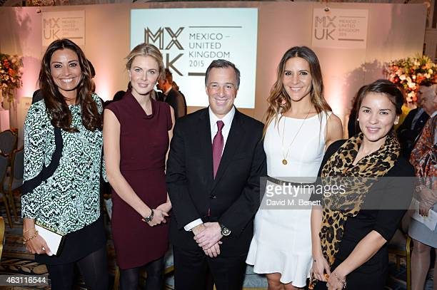 Melanie Sykes Donna Air Jose Antonio Meade Minister of Foreign Affairs of Mexico Amanda Byram and Rachel Khoo attend a gastronomic Mexican lunch...
