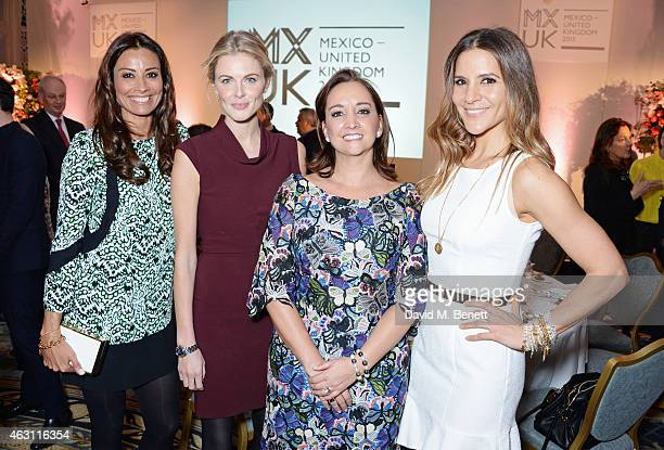 Melanie Sykes Donna Air Minister of Tourism Claudia Ruiz Massieu and Amanda Byram attend a gastronomic Mexican lunch prepared by 6 of the country's...