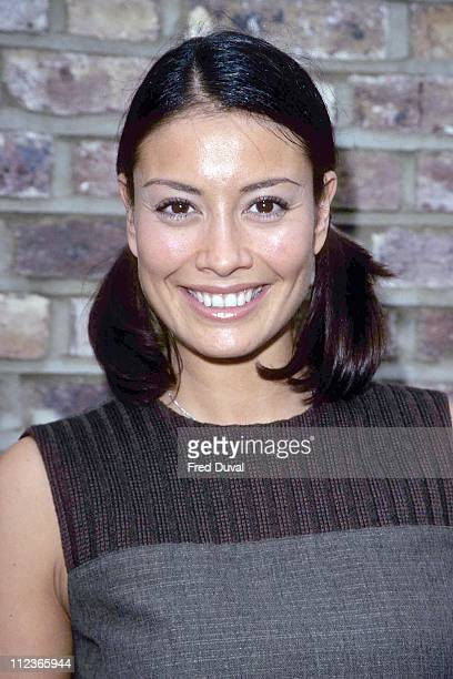 Melanie Sykes during Melanie Syles arrives at TFI Friday October 1 2000 at TFI Studios in London Great Britain