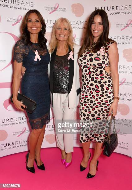 Melanie Sykes Gaby Roslin and Lisa Snowdon attend the Future Dreams 'Make Your Mark' ladies lunch at The Savoy Hotel on October 9 2017 in London...