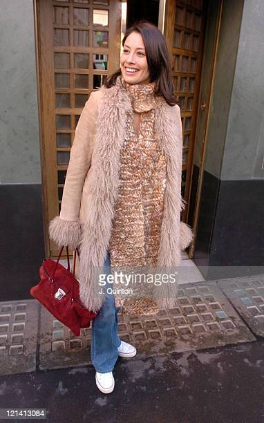 Melanie Sykes pregnant during Celebrity Sightings at The Ivy in London at The Ivy in London Great Britain