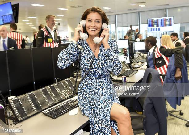 Melanie Sykes representing Together for Short Lives trades during the BGC Charity Day at One Churchill Place on September 11 2018 in London England