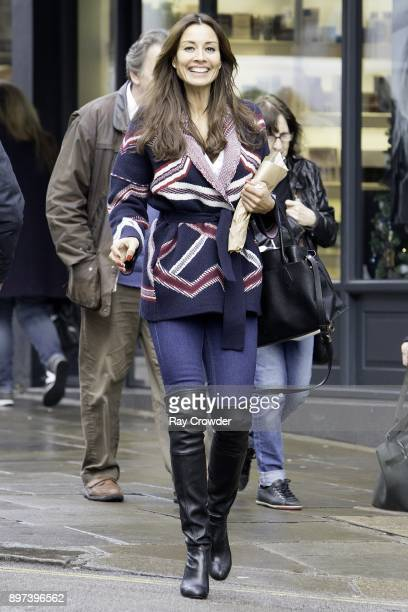 Melanie Sykes seen shopping at Hampstead High Street on December 22 2017 in London England