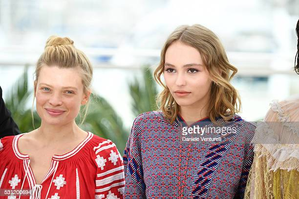Melanie Thierry and Actress LilyRose Depp attend the 'The Dancer ' photocall during the 69th annual Cannes Film Festival at the Palais des Festivals...
