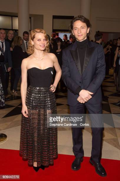 Melanie Thierry and singer Raphael at Salle Pleyel on March 2 2018 in Paris France