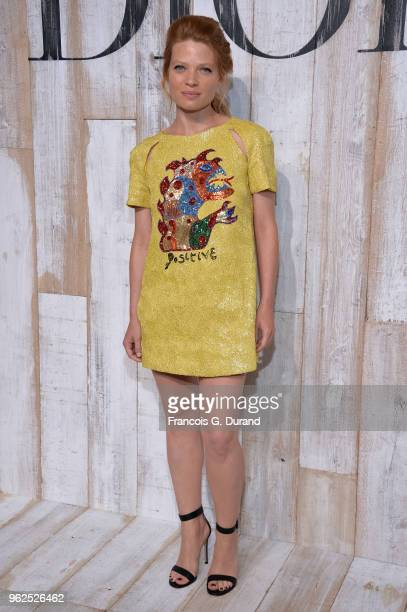 Melanie Thierry attends the Christian Dior Couture S/S19 Cruise Collection Photocall At Grandes Ecuries De Chantillyon May 25, 2018 in Chantilly,...