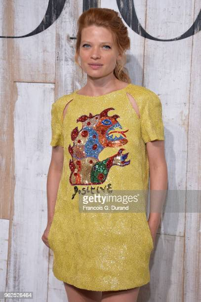 Melanie Thierry attends the Christian Dior Couture S/S19 Cruise Collection Photocall At Grandes Ecuries De Chantillyon May 25 2018 in Chantilly France