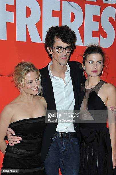 Melanie Thierry Hugo Gelin and Cecile Cassel attend 'Comme Des Freres' Premiere at Cinema Gaumont Opera on November 15 2012 in Paris France