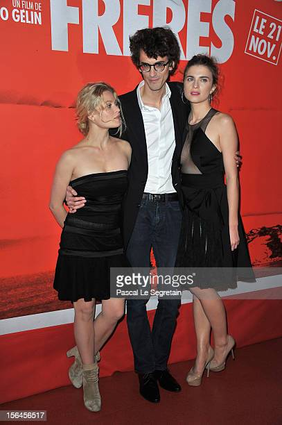 Melanie Thierry Hugo Gelin and Cecile Cassel 'Comme Des Freres' Premiere at Cinema Gaumont Opera on November 15 2012 in Paris France