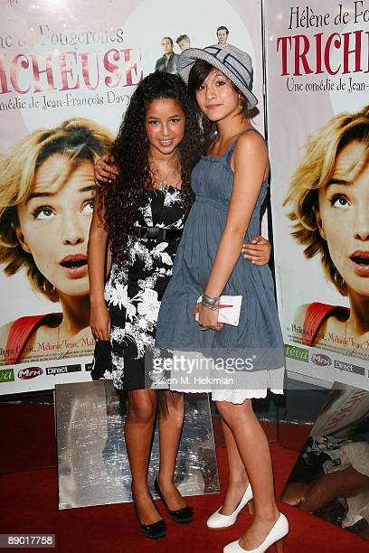 Melanie Tran and Malika Alaoui attend the 'Tricheuse' Paris premiere at UGC Cine Cite des Halles on July 13 2009 in Paris France