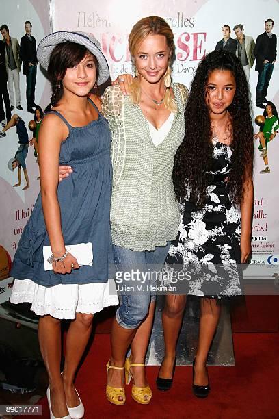 Melanie Tran Helene de Fougerolles and Malika Alaoui attend the 'Tricheuse' Paris premiere at UGC Cine Cite des Halles on July 13 2009 in Paris France