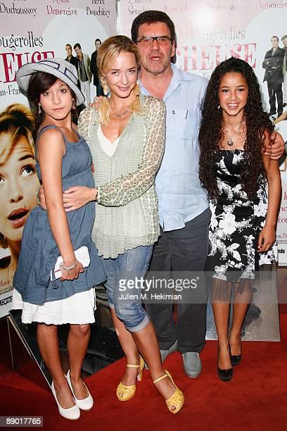 Melanie Tran Helene de Fougerolles JeanFrancois Davy and Malika Alaoui attend the 'Tricheuse' Paris premiere at UGC Cine Cite des Halles on July 13...