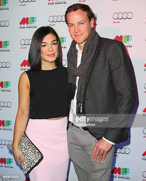 Melanie Vallejo and Tom Wren attend the opening night of the 63rd Melbourne International Film Festival at Hamer Hall on July 31 2014 in Melbourne...